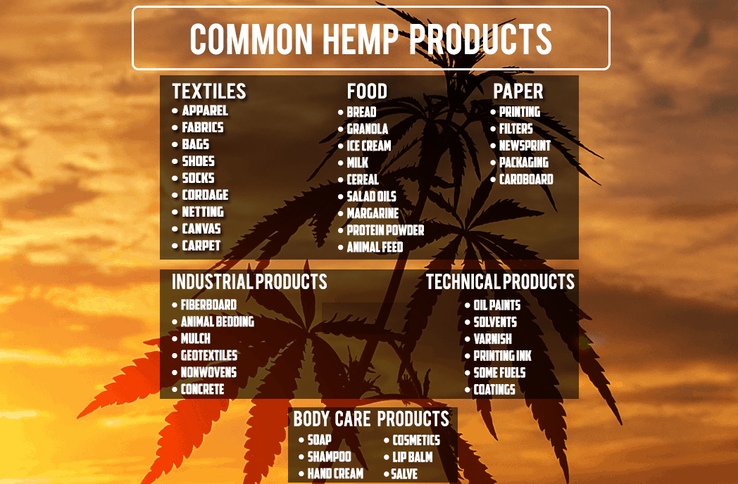 Common Products Made from Hemp
